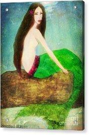 Mermaid  Acrylic Print by Sacred  Muse