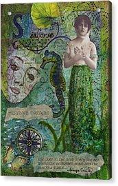 Mermaid Seahorse Dreams Acrylic Print