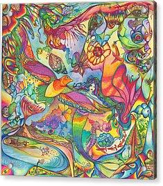 Mermaid Towne Acrylic Print by DiNo and Dart