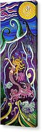 Mermaid Under The Sea Acrylic Print by Genevieve Esson