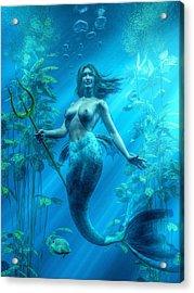 Mermaid Underwater Acrylic Print by Kaylee Mason