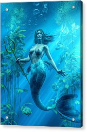 Mermaid Underwater Acrylic Print