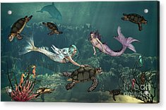 Mermaids At Turtle Springs Acrylic Print