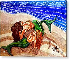 Acrylic Print featuring the painting Mermaids Spent Jackie Carpenter by Jackie Carpenter