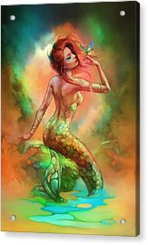 Mermaid's Wish Acrylic Print by Shannon Maer