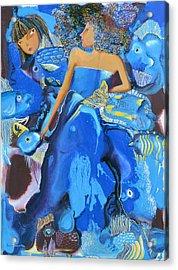 Mermaids Acrylic Print by Yelena Revis