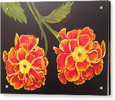 Acrylic Print featuring the painting Merrigolds by Brindha Naveen