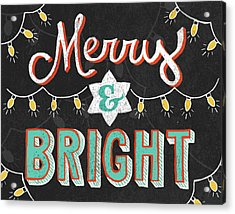 Merry And Bright Black Acrylic Print by Mary Urban