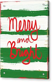 Merry And Bright- Greeting Card Acrylic Print