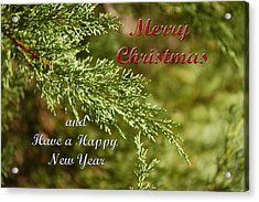 Merry Christmas 01 Acrylic Print