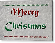 Merry Christmas Acrylic Print by Aimee L Maher Photography and Art Visit ALMGallerydotcom