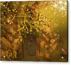 Merry Christmas Acrylic Print by Angela A Stanton