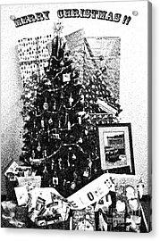 Merry Christmas Card Acrylic Print by Gary Brandes