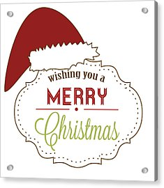 Merry Christmas Acrylic Print by Celestial Images