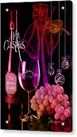 Merry Christmas Acrylic Print by EricaMaxine  Price