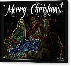 Merry Christmas Acrylic Print by George Pedro