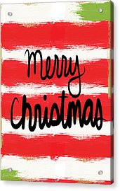 Merry Christmas- Greeting Card Acrylic Print