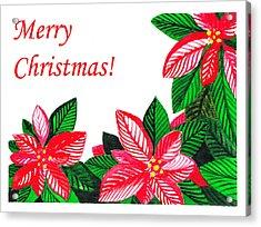 Merry Christmas Acrylic Print by Irina Sztukowski