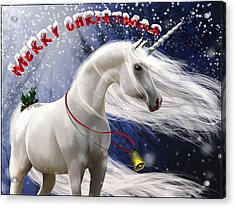 Merry Christmas Acrylic Print by Kate Black