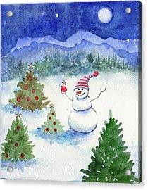 Merry Christmas Acrylic Print by Katherine Miller