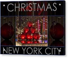 Merry Christmas Nyc Acrylic Print