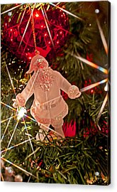 Merry Christmas - Santa Ornament 001 Acrylic Print
