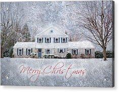 Wintry Holiday - Merry Christmas Acrylic Print