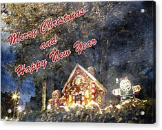 Merry Christmas Acrylic Print by Skip Nall