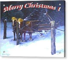 Merry Christmas Sleigh Acrylic Print