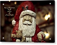 Merry Christmas To All Acrylic Print by Trish Tritz