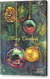Merry Christmas Wishes Acrylic Print