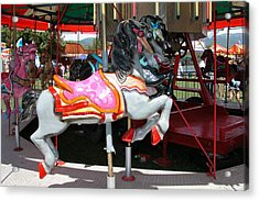 Acrylic Print featuring the photograph Merry-go-round Horse by Mary M Collins