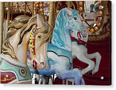 Merry-go-round Horses At Indiana State Acrylic Print by Jaynes Gallery