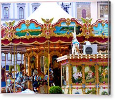Merry Go Round Acrylic Print by Mindy Newman
