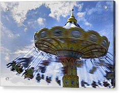 Merry Go Round Swings Acrylic Print by Ralph Vazquez