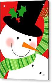 Merry Snowman Acrylic Print