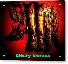 Merry Texmas Acrylic Print by Chris Berry
