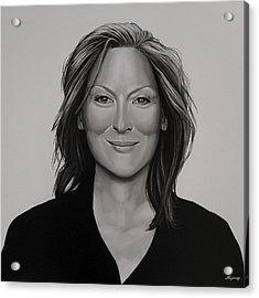 Meryl Streep Acrylic Print by Paul Meijering