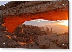 Mesa Arch Acrylic Print by Doug Andrews