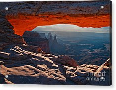 Acrylic Print featuring the photograph Mesa Arch  by Mae Wertz
