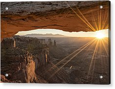 Mesa Arch Sunrise 4 - Canyonlands National Park - Moab Utah Acrylic Print by Brian Harig