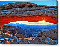 Mesa Arch Sunrise Acrylic Print by Adam Jewell