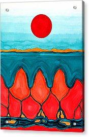 Mesa Canyon Rio Original Painting Acrylic Print