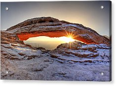 Mesa Sunburst Acrylic Print by David Andersen