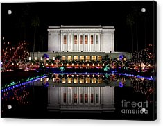 Acrylic Print featuring the photograph Mesa Temple by Ruth Jolly