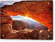Mesa's Sunrise Acrylic Print by Darren  White