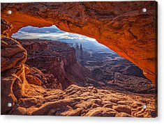 Mesa's View Acrylic Print by Darren  White