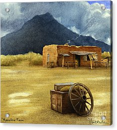 Mescalero Rain... Acrylic Print