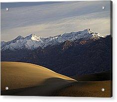 Mesquite Dunes And Grapevine Range Acrylic Print by Joe Schofield