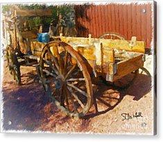 Mesquite Wagon Acrylic Print